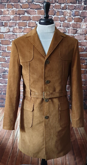 """Mr Mcaf"" Edwardian Tobacco Corduroy Coat"